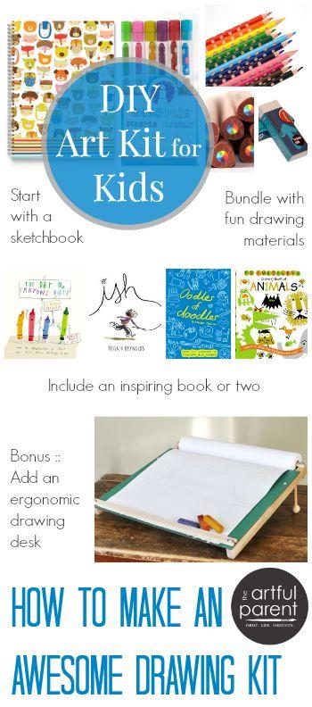 How to Make a DIY Kids Art Kit - Drawing