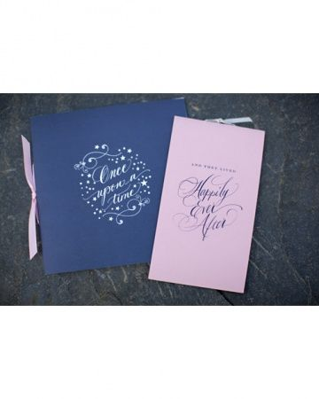 Blue EmbroideryBlue and Pink Save-the-Dates