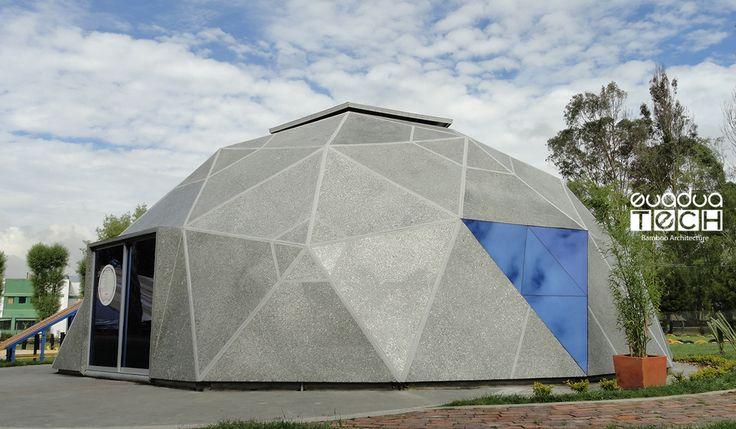 Bamboo guaduatech dome. A classroom