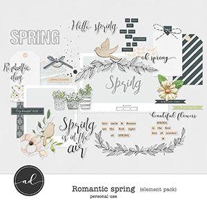 Romantic Spring - Element pack