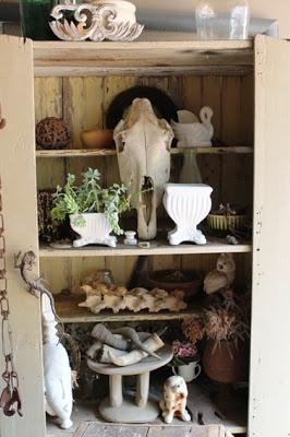 old cupboard - display shelf