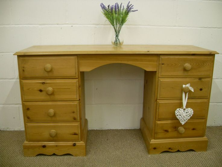 CHUNKY PINE DRESSING TABLE 8 DRAWERS - W 138 - D 46 - H 77 CM - £179 http://www.drabtofabfurniture.co.uk/