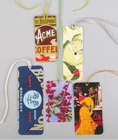 Don't throw away last year's calendar just yet. Give it new life by recycling those pretty designs into custom gift tags.