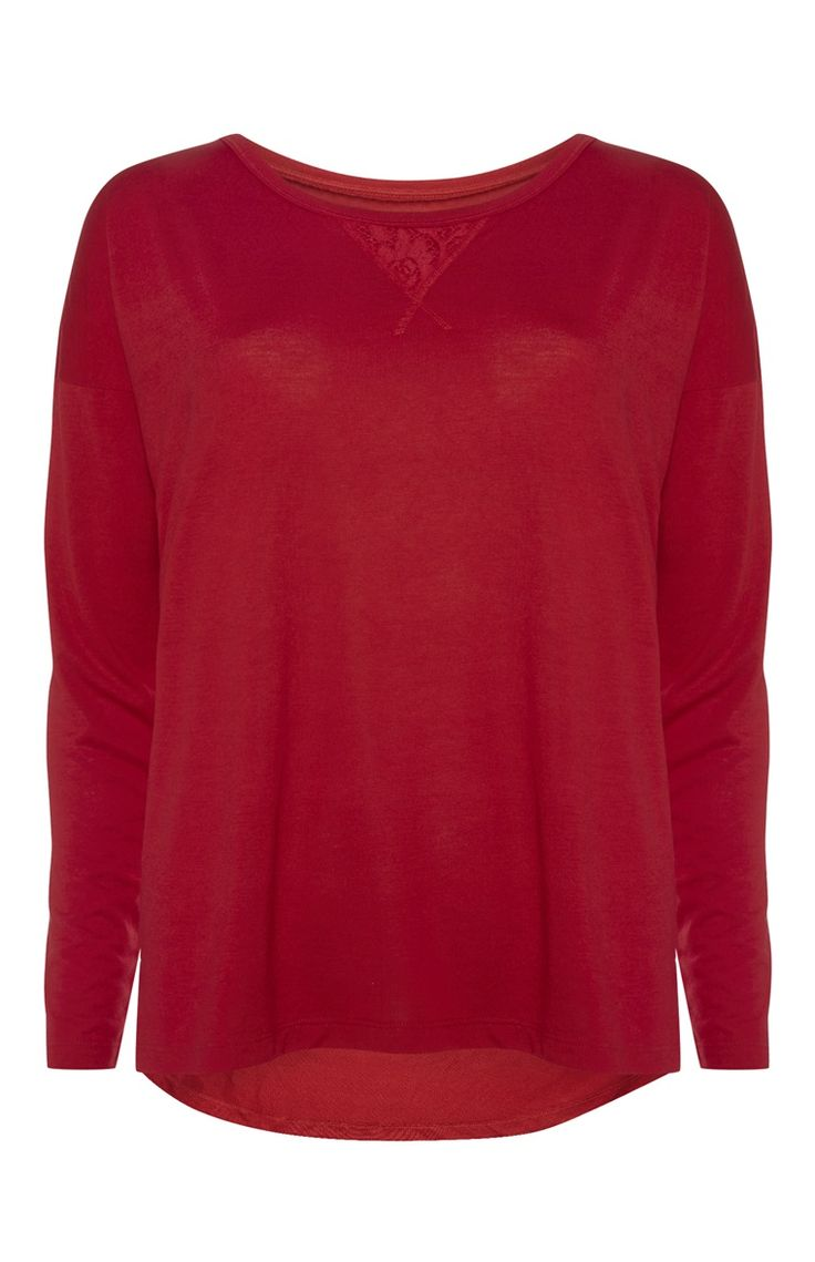 Primark - Red Long Sleeve PJ Top - £5