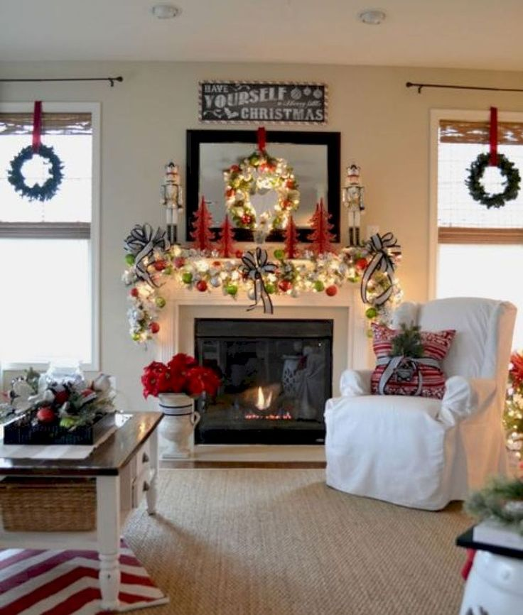 The 25+ best Over fireplace decor ideas on Pinterest Mantle - christmas fireplace decor