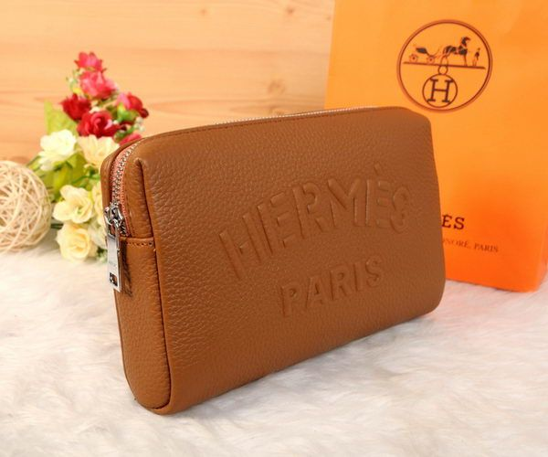 Hermes Grainy Leather Clutch H2152 Wheat