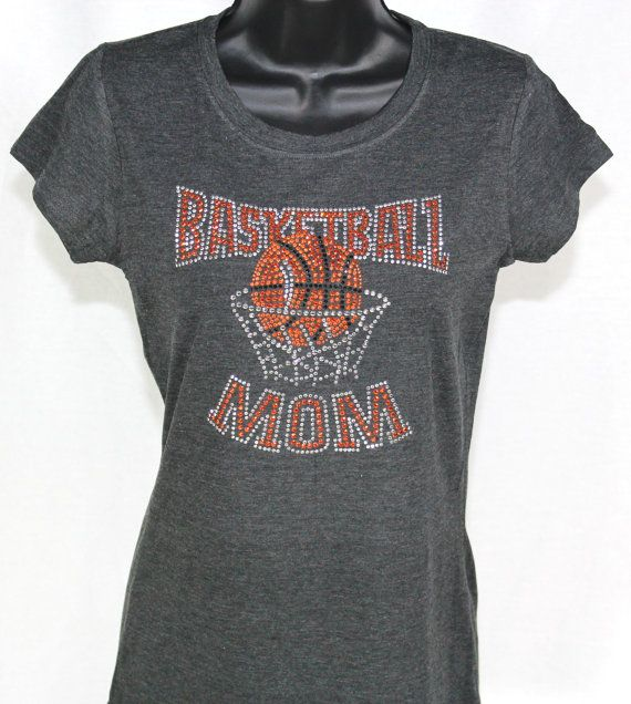 Basketball Mom Brilliant Bling Rhinestone T-shirt