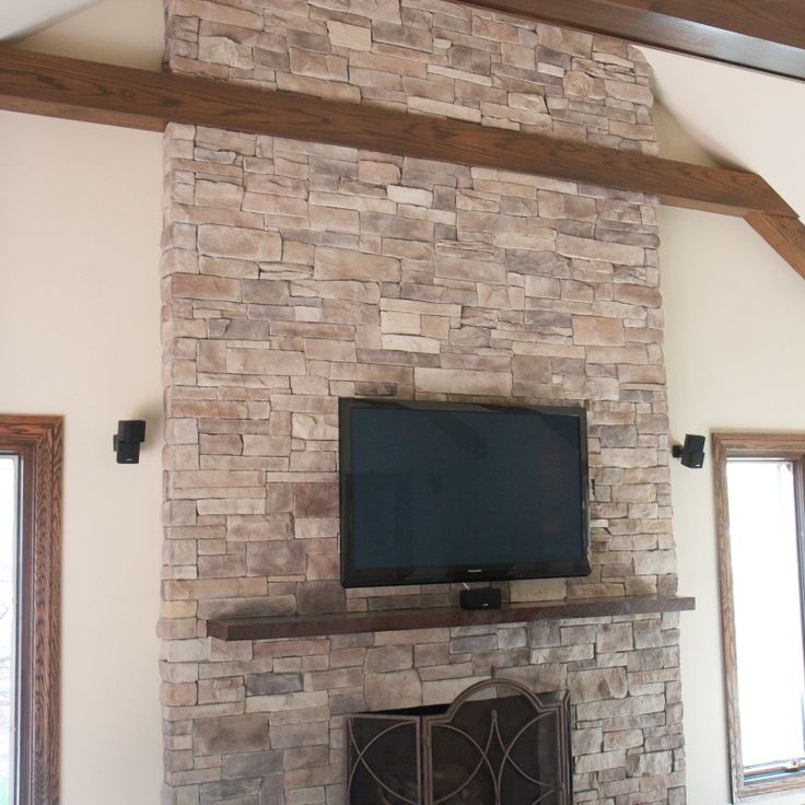 Fireplace Design brick veneer fireplace : 35 best Ledge Stone Fireplaces images on Pinterest