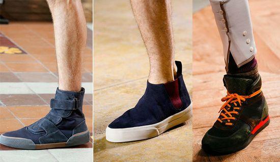 Мужские кроссовки с завышенным голенищем весна-лето 2016
