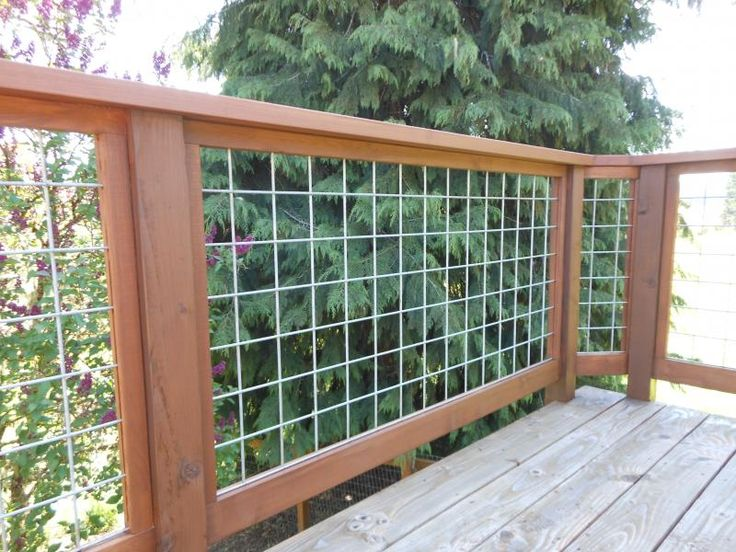 Hog wire deck railing garden hardscape pinterest