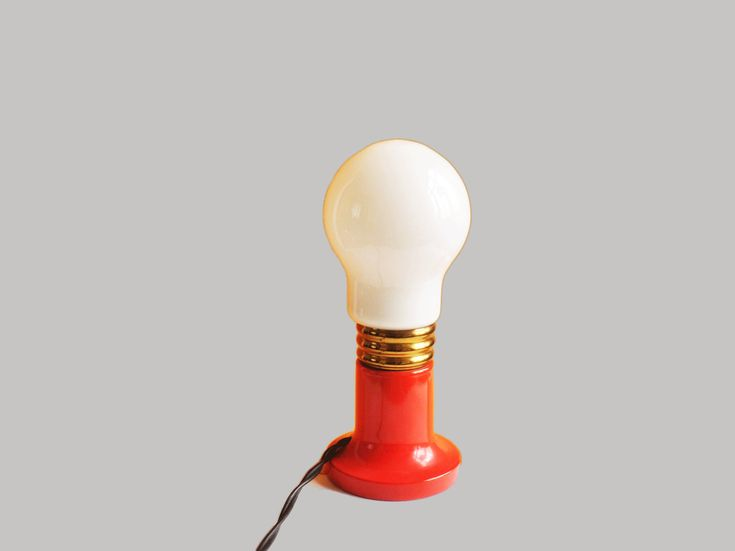 Vintage sixties-seventies night light table lamp in bulb form by TresbeLLL on Etsy