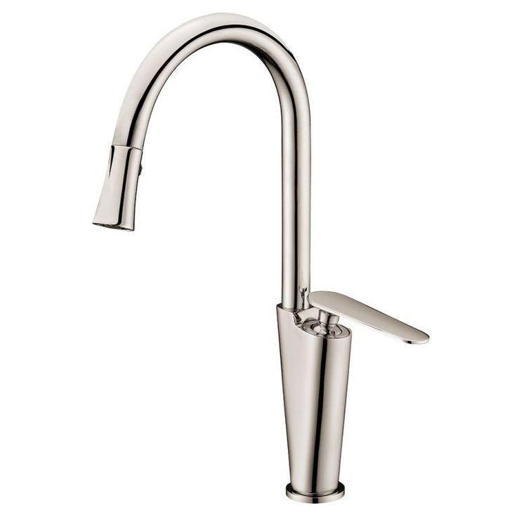Dawn Brushed Nickel Single Lever Kitchen Faucet (Dawn Kitchen Faucet,  Brushed Nickel)