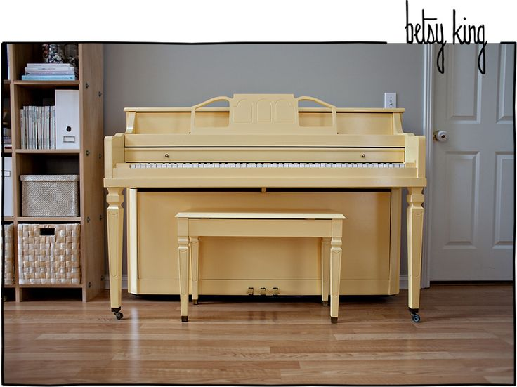 piano in butter yellow. yes.