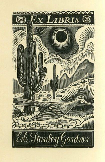 Ex Libris Erl Stanley Gardiner.  (July 17, 1889 – March 11, 1970) Wrote detective stories.  No other information found.
