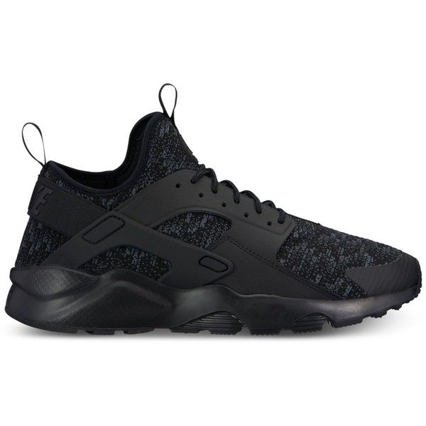 Nike Men's Air Huarache Run Ultra Se Casual Sneakers from Finish Line ($100) ❤ liked on Polyvore featuring men's fashion, men's shoes, men's sneakers, mens sneakers, nike mens sneakers, mens shoes and nike mens shoes