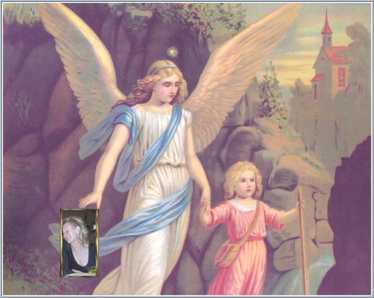 Az Őrangyalka a gyermekkel.