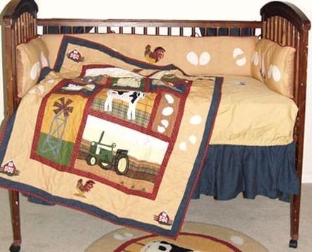 Farm Tractor Baby Boy Bedding Littletikebedding Com