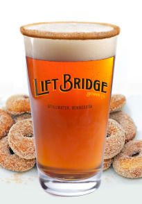 "Stillwater's own ""Lift Bridge Brewery"". The new Mini-Donut Beer has a warm tan color, like the exterior of a mini donut. A malty base and natural flavors give this sweet sipper enough rich flavor without overwhelming the palate."