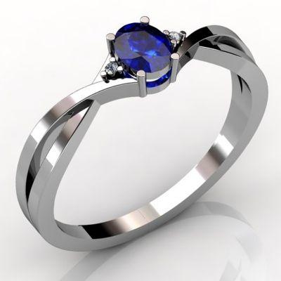 0.22 Carat Oval Tanzanite Ring in 14k White Gold  $876.00