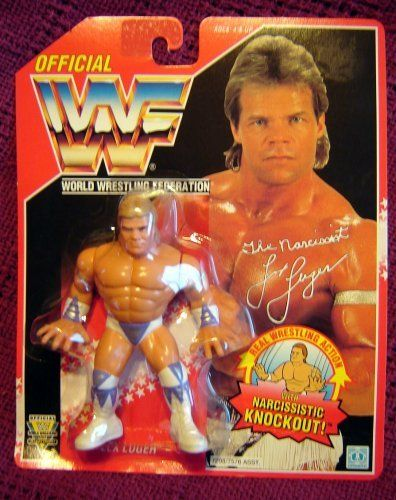 WWF Hasbro Lex Luger Wrestling Action Figure on Red Card WWE WCW ECW by WWF Hasbro WWE. $33.80. With Narcissistic Knockout move. Hasbro Red Card. Detailed and Poseable. WWF's Lex Luger Action Figure with Narcissistic Knockout. Very detailed and Poseable. On Hasbro Red Card.