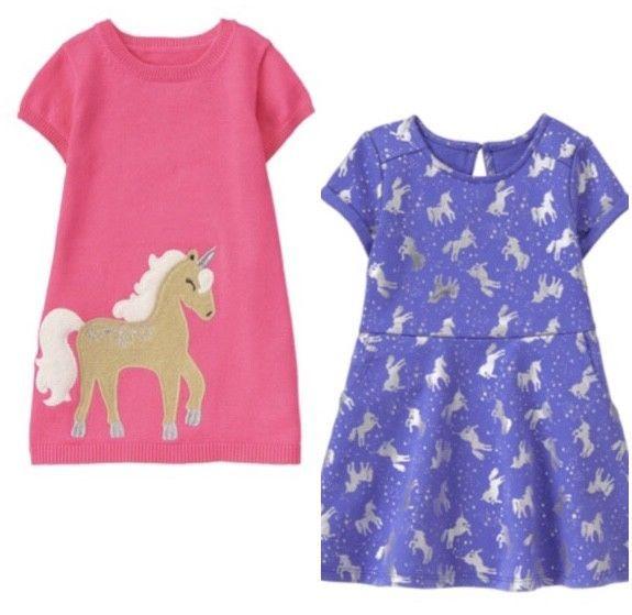 f66042b4680 Gymboree Unicorn University 12-18-24-2T 3T 4T 5T Pink Sweater Dress Purple  Dress  Gymboree  CasualFormalParty