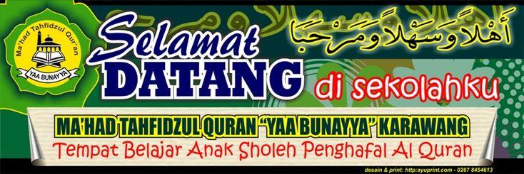 Contoh Banner Sekolah