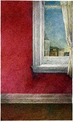 ROSE MARY GONNELLA-BUTLER Purple Interior with Window (1982)