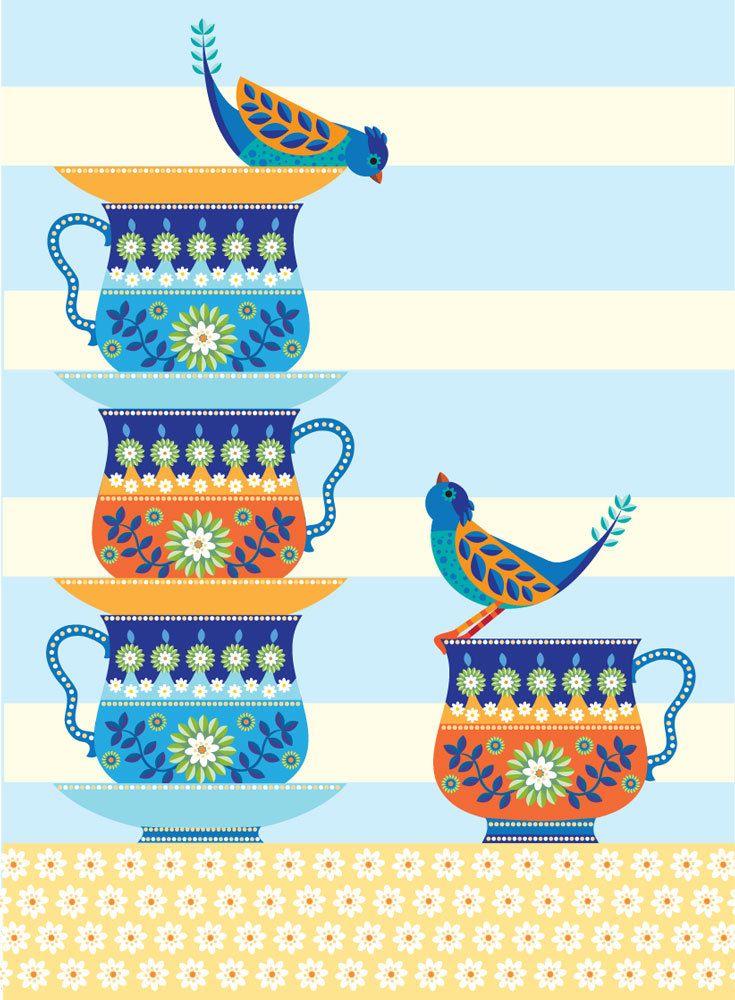 So la da di da di we like to tea party #Tea #thé #cha #茶 #té #tè #お茶 #par-tea #cup #mug #xicara #illustration #ilustração #poster