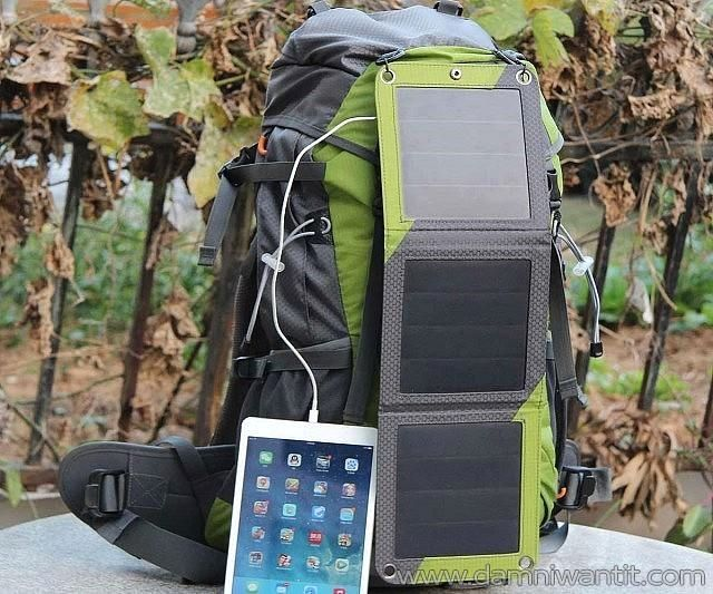 Solar Powered Hiking Backpack