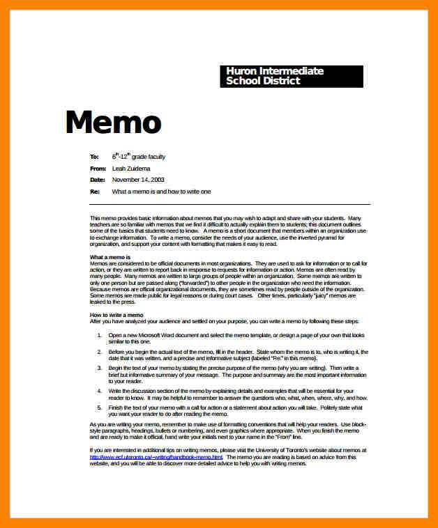Memo Format Check More At Https Cleverhippo Org Memo Format