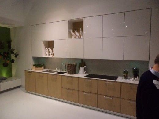 Amazing kitchen wall cabinet with the Aventos lift system from Blum