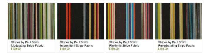 Paul smith striped fabrics, Viesso.com Also on Architonic