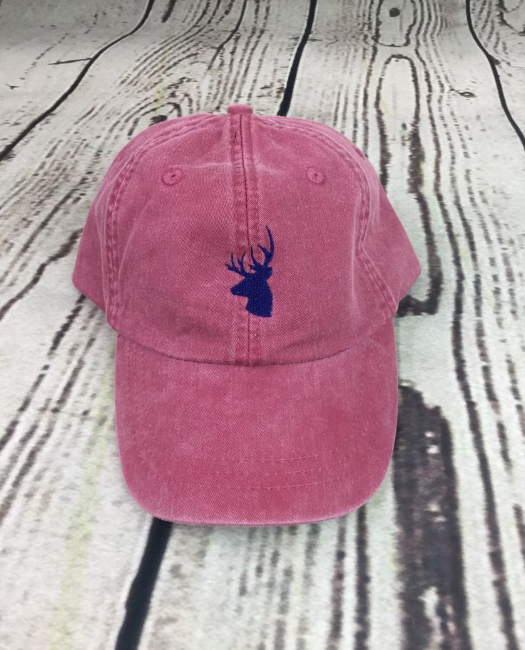 Deer baseball hat - Pigment dyed hat - Rustic hat - Woodland hat - Hunting hat - Monogrammed hat - Deer hat - Deer - Oh deer - Deer gifts - Monogrammed gifts - Camo hat - Southern hat - The South