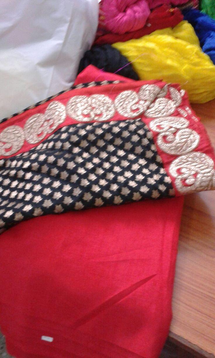 Gorgeous designer dupatta with plain suit