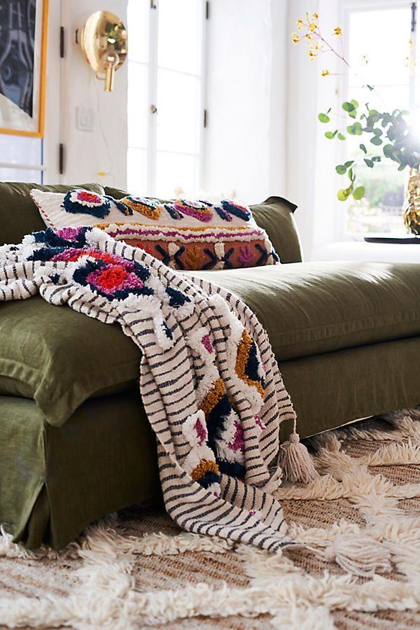 Slide View: 4: Tufted Ayla Throw Blanket