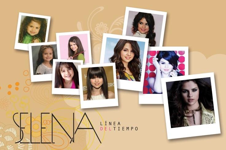 Linea de tiempo de Selena Gomez.