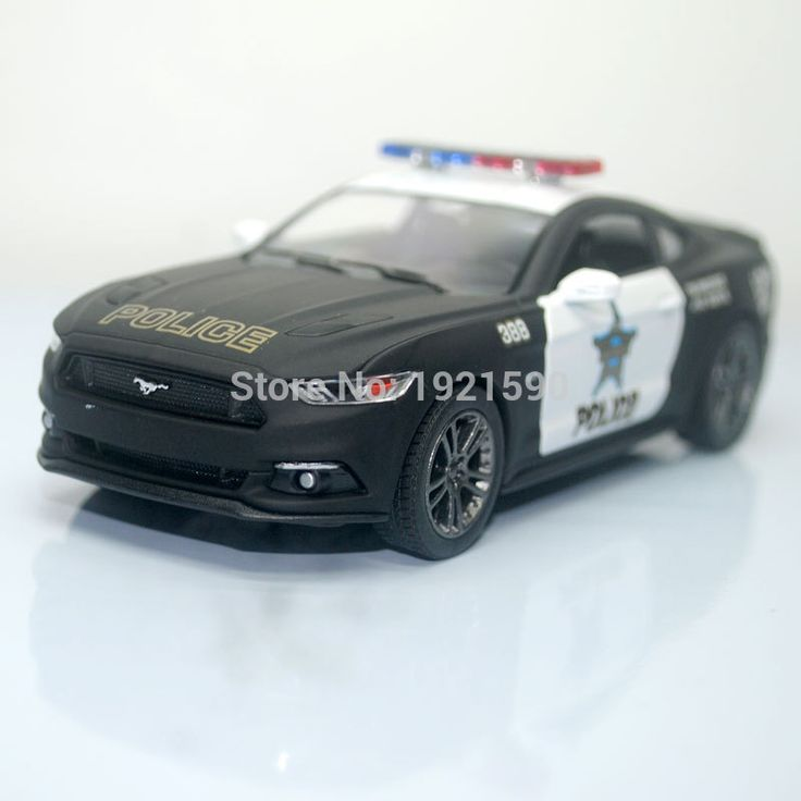 (10pcs/pack) Wholesale Brand New KT 1/38 Scale USA Ford Mustang 2015 Police Ver. Diecast Metal Pull Back Car Model Toy