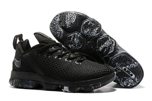 Nike LeBron 14 Buy Nike LeBrons 14 Low Triple Black Black Black-Dark Grey 2017 LeBron 14 Basketball Shoe For Sale