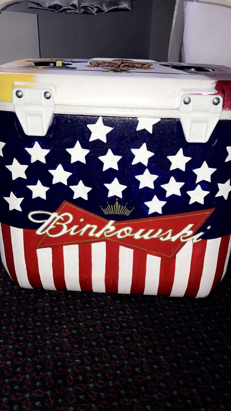 Cooler painting ideas - Budweiser
