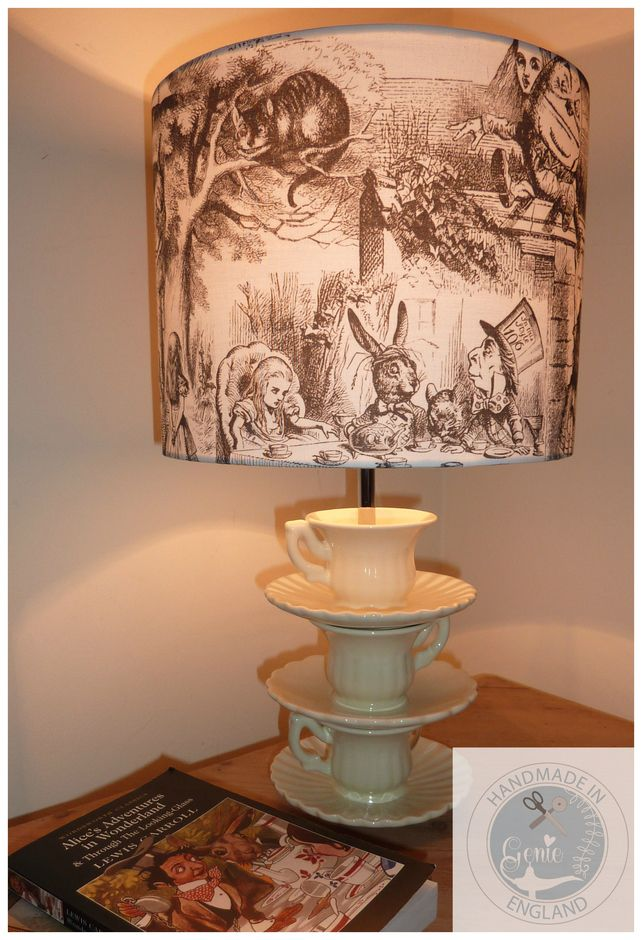 Alice in Wonderland - Curiouser and Curiouser - Lampshade or Light Fitting Lamp (Rabbit Houses Alice In Wonderland)