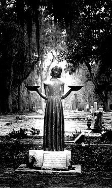Bonaventure Cemetery in Savannah is a most haunted necropolis; this statue was made famous from the cover of Midnight in the Garden of Good and Evil but had an uncanny reputation long before the book came out.