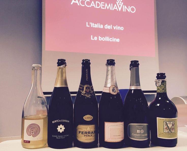 Our course in Genova! Wich is your favourite bubble?!? #accademiavino #ferrariperlè #contadicastaldi #costadilà #bertèecordini #cascinabrettarossa #proseccovaldoca