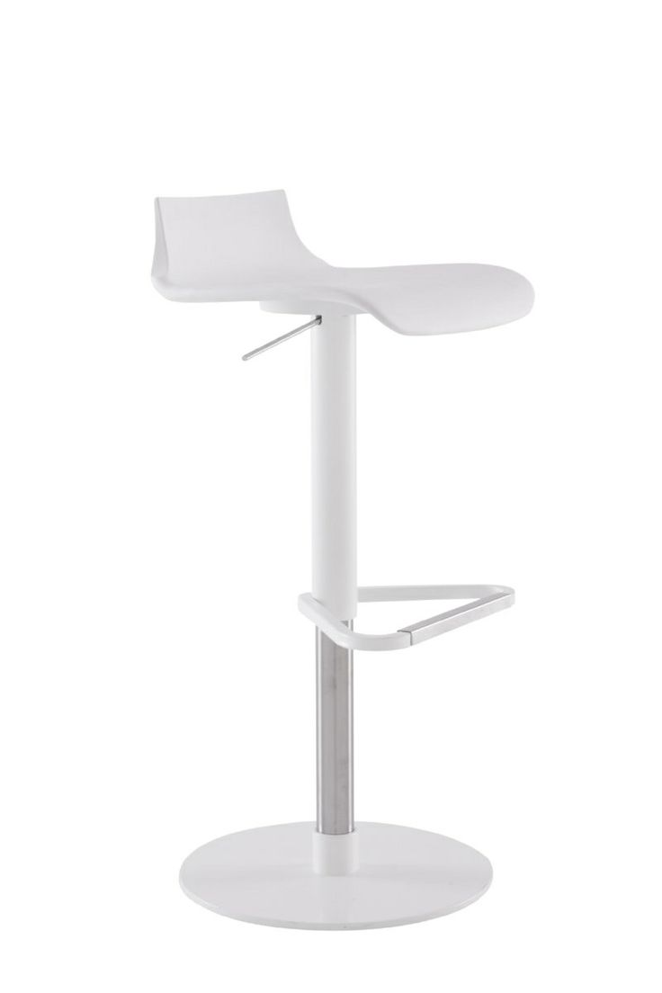 Petrus Height adjustable barstool stocked in Black & White 64/89h x 41.5w x 43d cm