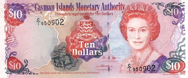 Billet de banque - Cayman - Pick 35 - 10 dollars