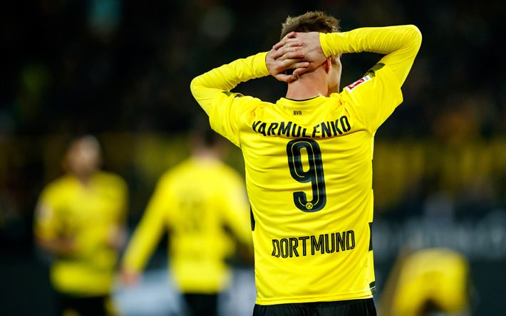 Download wallpapers 4k, Andrey Yarmolenko, BVB, match, Borussia Dortmund, Andriy Yarmolenko, footballers, soccer, Bundesliga, Yarmolenko