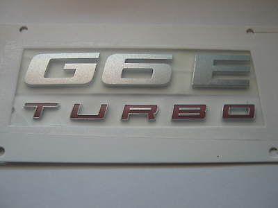 FORD FG FALCON G6E TURBO BADGE REPLACMENT REAR GENUINE
