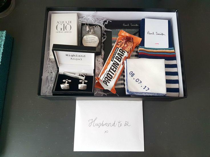 Wedding gift Groom gift Goodie box Gift box Wedding morning
