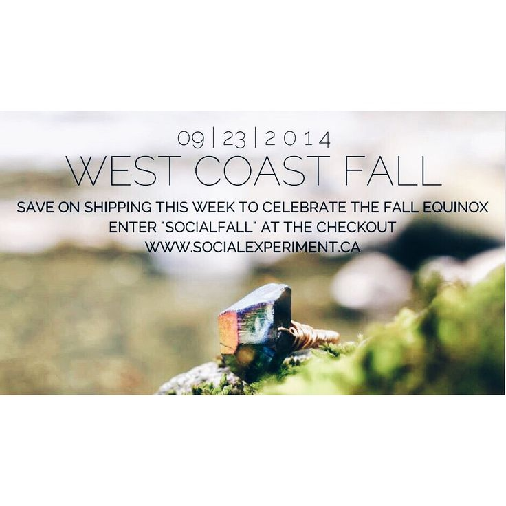 "P P S S T | We got you covered | Only a few days left of our Fall Equinox SHIPPING IS ON US SALE | Enter ""SOCIALFALL"" at the checkout 