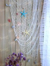 Home | Big Fishing Net Decoration Home Decoration Wall Hangings Fun The Mediterranean Sea style Wall Stickers
