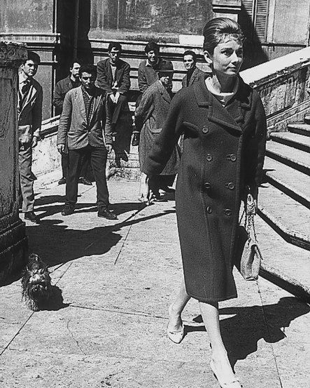 The Fashion of Audrey — The actress Audrey Hepburn photographed with Mr....